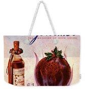 Gourmet Cover Illustration Of Flaming Chocolate Weekender Tote Bag