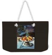 Gourmet Cover Illustration Of Fruit Dish Weekender Tote Bag