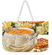 Gourmet Cover Of Pumpkin Soup Weekender Tote Bag
