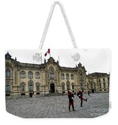 Government Palace Guards In Lima Weekender Tote Bag