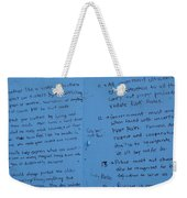 Government Rules  Weekender Tote Bag