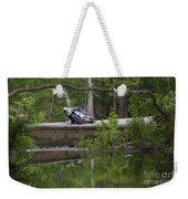 Superbike On Creek Bridge Weekender Tote Bag