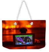 Gps With The Holuhraun Fissure Eruption Weekender Tote Bag