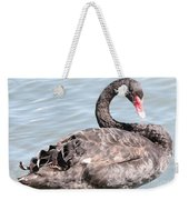 Graceful Black Swan Weekender Tote Bag