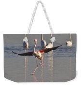 Graceful Flamingo Dance Weekender Tote Bag