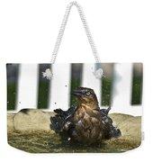 Grackle In The Bird Bath 1 Weekender Tote Bag