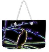Grackle In The Willow Tree Weekender Tote Bag