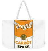 Graffiti Carrot Spray Can Weekender Tote Bag by Gary Grayson
