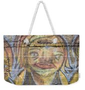 Graffiti Covered Cement Wall Weekender Tote Bag