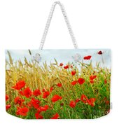 Grain And Poppy Field Weekender Tote Bag