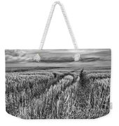 Grain Field Tracks Weekender Tote Bag