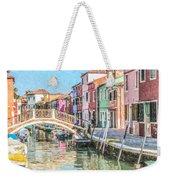 Grand Canal Burano  Venice Weekender Tote Bag