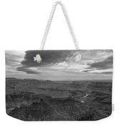 Grand Canyon Black And White Weekender Tote Bag