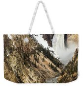 Grand Canyon Of The Yellowstone Weekender Tote Bag by Michael Chatt