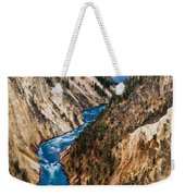 Grand Canyon Of Yellowstone Weekender Tote Bag by Bill Gallagher