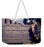 Grand Canyon Signage Weekender Tote Bag