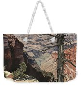 Grand Canyon View Weathered Tree Right Side  Weekender Tote Bag