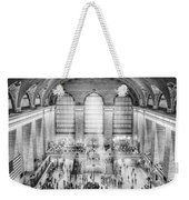 Grand Central Terminal Birds Eye View Bw Weekender Tote Bag