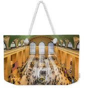 Grand Central Terminal Birds Eye View I Weekender Tote Bag by Susan Candelario
