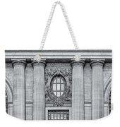 Grand Central Terminal Facade Bw Weekender Tote Bag