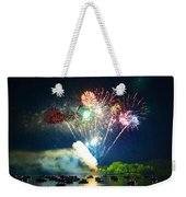 Grand Finale Over The Lake Weekender Tote Bag