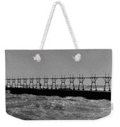 Grand Haven Light In Black And White Weekender Tote Bag