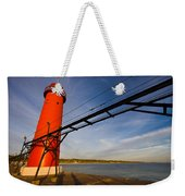 Grand Haven Lighthouse Weekender Tote Bag by Adam Romanowicz