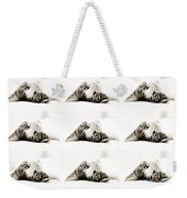 Grand Kitty Cuteness Bw 9 Weekender Tote Bag