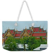 Grand Palace Of Thailand From Waterways Of Bangkok-thailand Weekender Tote Bag