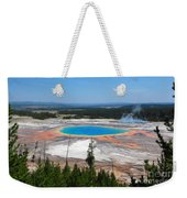 Grand Prismatic Spring From Above Weekender Tote Bag