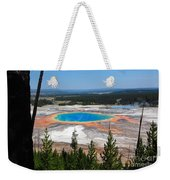 Grand Prismatic Spring From Hillside Weekender Tote Bag