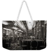 Grand Salon 05 Queen Mary Ocean Liner Bw Weekender Tote Bag