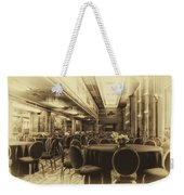 Grand Salon 05 Queen Mary Ocean Liner Heirloom Weekender Tote Bag