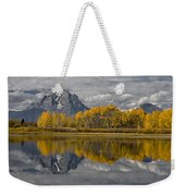 Grand Teton Gold Weekender Tote Bag