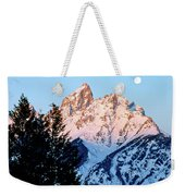 Grand Teton National Park Moonset Weekender Tote Bag