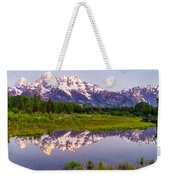 Grand Teton Reflection Weekender Tote Bag