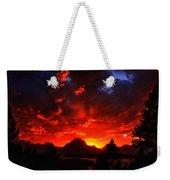 Grand Teton Sunset Weekender Tote Bag