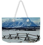 1m9306-grand Tetons From Ranch Country Weekender Tote Bag