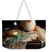 Grandmother's Lace Cloth Weekender Tote Bag by Diana Angstadt