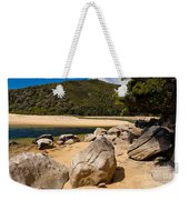Granite Boulders In Abel Tasman Np New Zealand Weekender Tote Bag