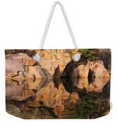 Granite Cliffs And Reflections In A Quarry Lake Weekender Tote Bag