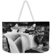 Granite Falls Black And White Weekender Tote Bag