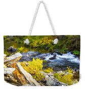 Granite Rocks Above The Cascading Feather River, Quincy California Weekender Tote Bag