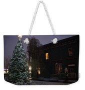 Grants Pass Town Center Christmas Tree Weekender Tote Bag