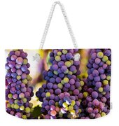 Grape Bunches Wide Weekender Tote Bag