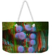 Grapes On The Vine - Use Red-cyan Filtered 3d Glasses Weekender Tote Bag