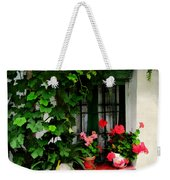Grapevines And Geraniums Around A Window Weekender Tote Bag
