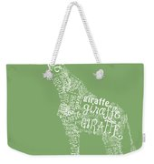 Graphic Giraffe Weekender Tote Bag