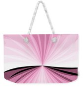 Graphic Pink And White Weekender Tote Bag