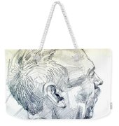 Graphite Portrait Sketch Of A Man In Profile Weekender Tote Bag